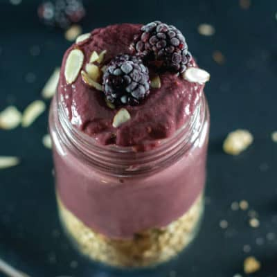 Blackberry Kefir Smoothie - If you haven't tried Kefir you haven't lived life. In this smoothie it adds a creamy tartness that goes perfect with blackberries.