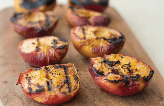 grilled peaches with char marks