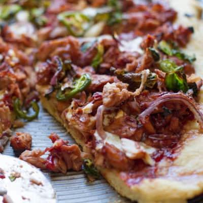 Cranberry BBQ Turkey Pizza