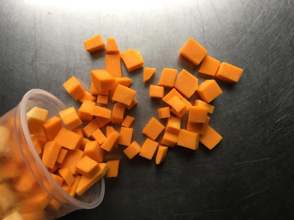 chopped butternut squash