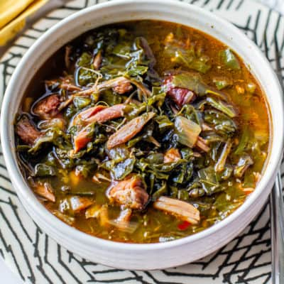southern style greens in a bowl