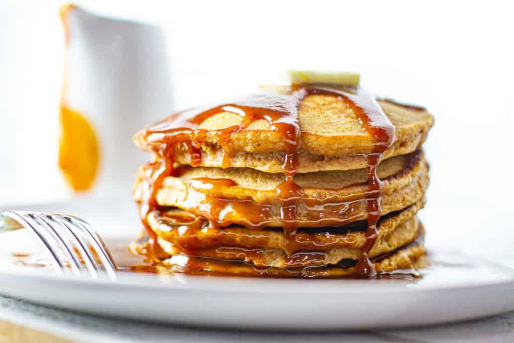 Sweet Potato Pancakes with Caramelized Rum Glaze