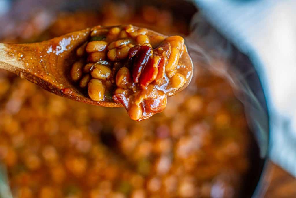 spoon full of baked beans