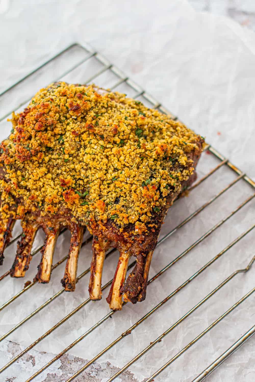 Cornbread Crusted Rack of Lamb