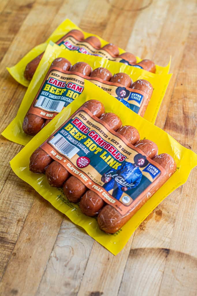 Earl Campbell's all beef hot links for the Juneteenth Cookout