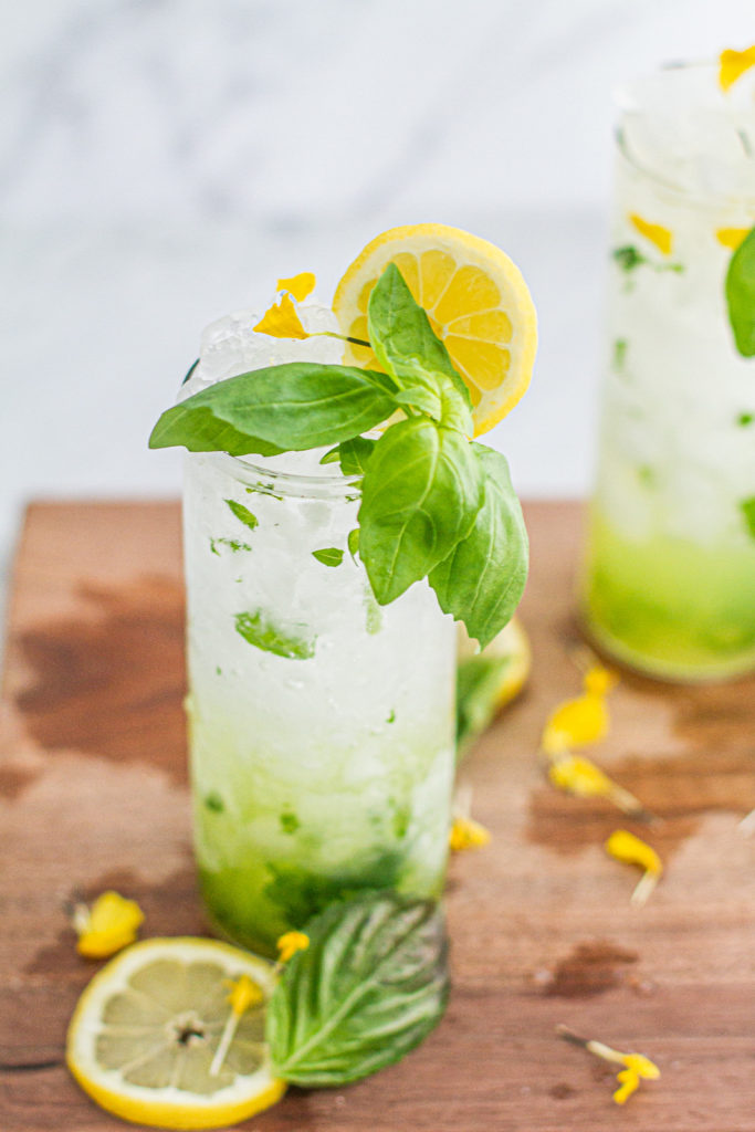 class of lemon basil mojito