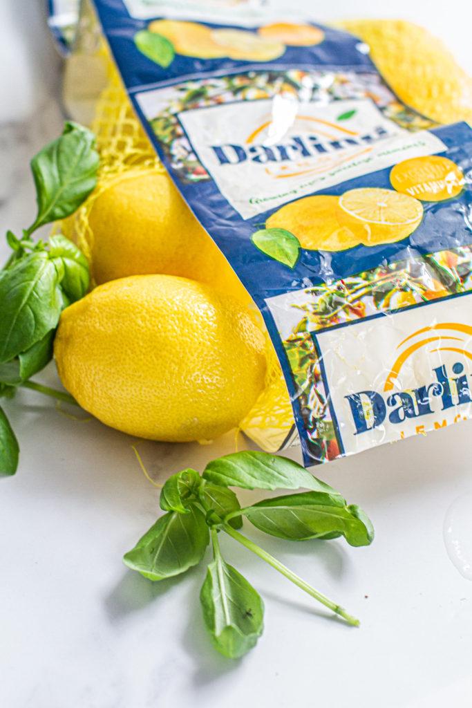 Lemons for lemon basil mojito