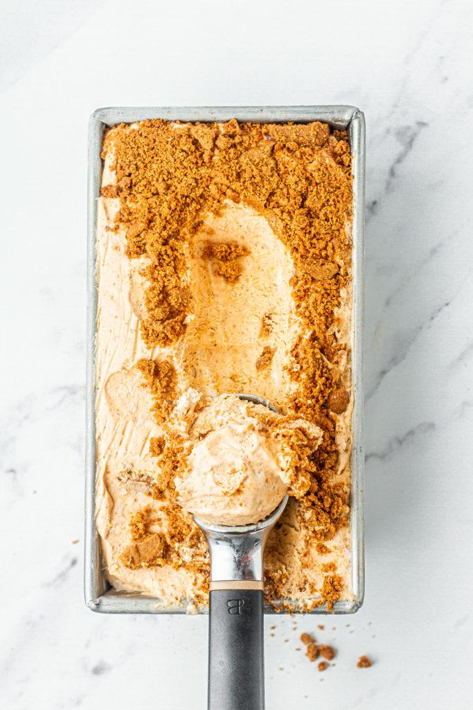 scoop pumpkin spice ice cream