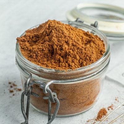 homemade pumpkin spice in a jar