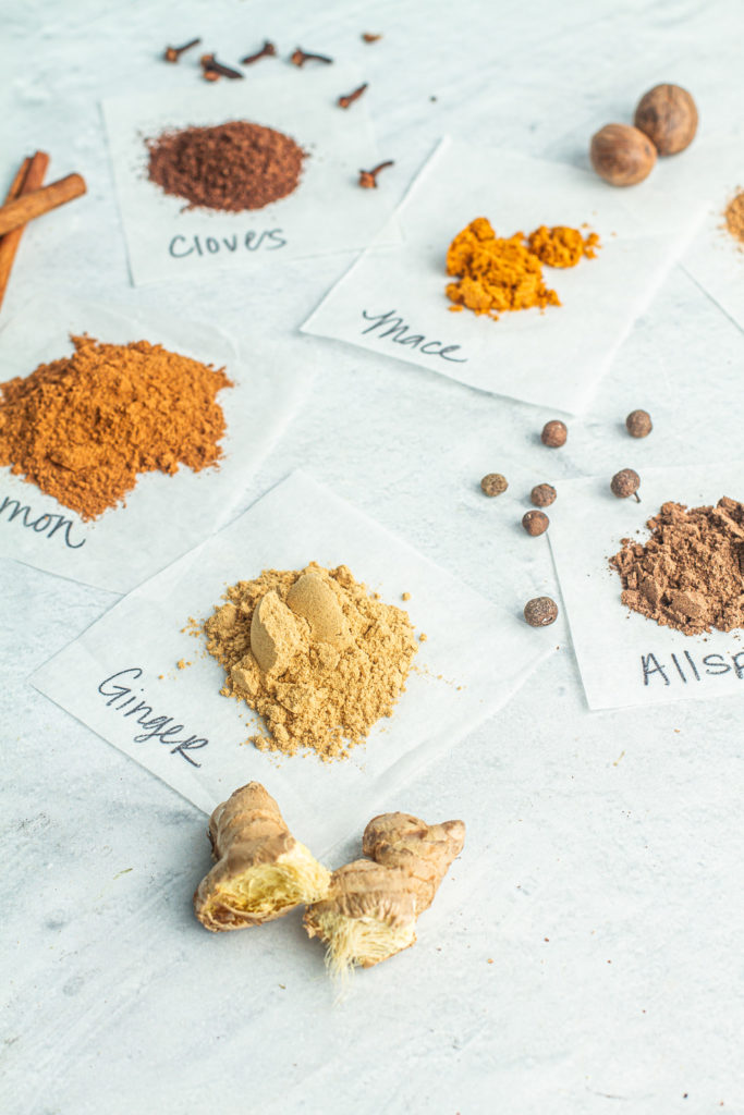 Spices needed for homemade pumpkin spice are ground