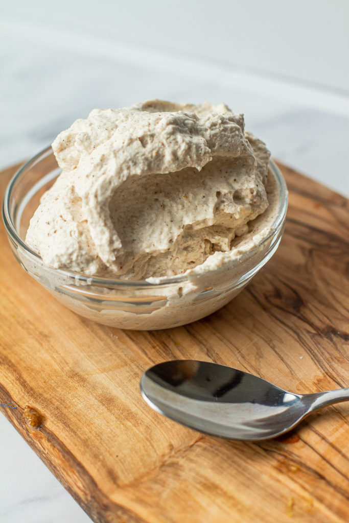 whippede cream with pumpkin spice mix